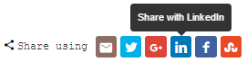 Share icons with tooltip example