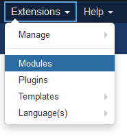 Modules page