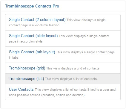Trombinoscope view (list)