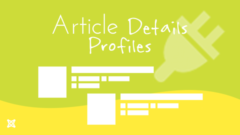 The Article Details Profiles plugin